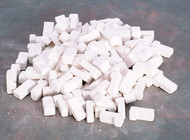 125 White Corner Bricks