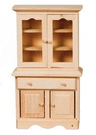 Bare Wood Hutch Cabinet