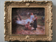 The Apple Pickers Picture In Ornate Golden Frame