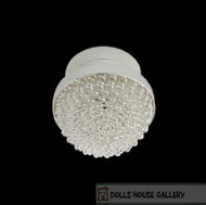 LED Silver Warm Light Ceiling Lamp
