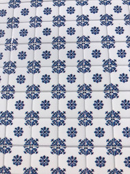 Laminated Tile Sheet Flooring Blue & White (2)