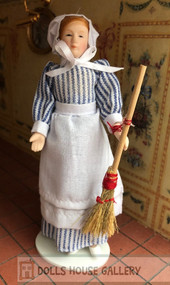 Maid Doll With Broom
