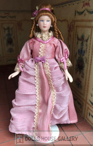 Pink Dress Doll With Stand