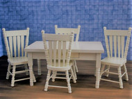 Cream Table & Four Chairs