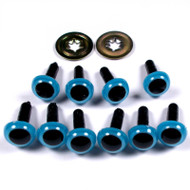 Two Pair Of Animal Blue Eyes 9mm