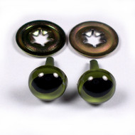 Two Pair Of Animal Green Eyes 9mm