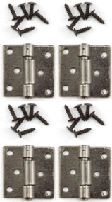 Pewter Butt Hinges & Nails 4 Pack