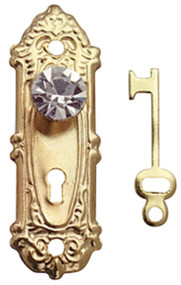 Crystal Opryland Door Handles In Gold With Keys