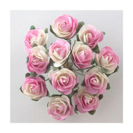 Bunch Of Cream & Pink Roses