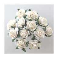 Bunch Of White & Green Roses