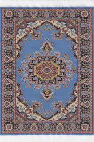Medium Woven Turkish Rug Blue 25cm x 15cm