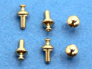 Brass Drawer Knobs Pack of 6