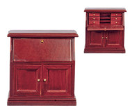 One Desk In Mahogany
