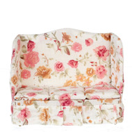 Floral Three Seat Sofa