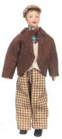 Father Doll In Brown Clothing