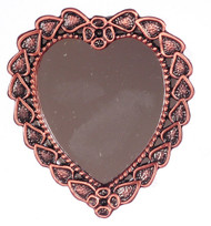 Antique Copper Heart Mirror