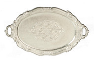 Oval Patterned Metal Tray