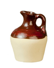 Brown / Cream Ceramic Jug