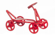 Red Metal Push Kart