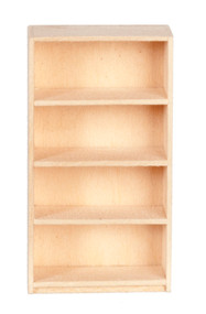 1/24th Scale Basswood Bookcase