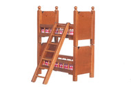 Walnut Bunk Beds & Ladder, Can Be Split.
