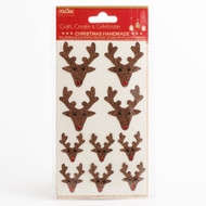 Christmas Reindeer  Stickers 10pc