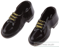 Mens Black Shoes Gold Laces