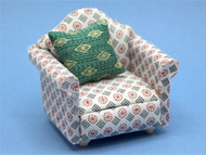 Patterned Sofa Chair & Cushion