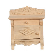 Bare Wood Carved Night Stand