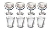 Set Of 8 Small Glasses