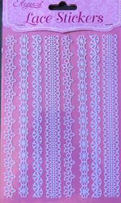 Lace Effect Edging Stickers Strips (C)