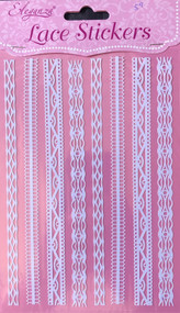 Lace Effect Edging Stickers Strips (D)