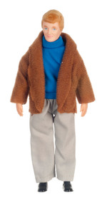 Father Doll In Brown Coat