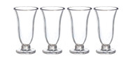 4 Clear Vases