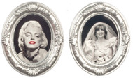 2 Silver Oval Framed Pictures