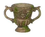 Brown Urn With Moss