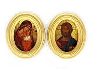 Byzantine Religious Iconography In Oval Frames
