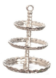 3-Tier Silver Cake stand