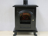 Black Wood Burner Stove With Opening Door