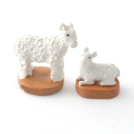 Pair of Tiny Ornamental Sheep