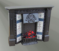 The Corbell Cast Iron Finish Fireplace with Bulb  (F2C)