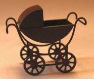 Black Pram with Removeable Body