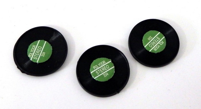 Dolls House Miniature Music Room Accessory Set of 3 1:12 Scale Records