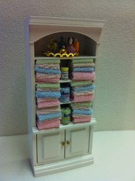 Bathroom Cabinet With Fixed Towels & Accessories