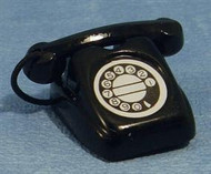 Rotary Telephone in Black