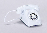 Rotary Telephone In White