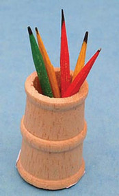 Pencil Holder With Pencils