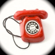 Rotary Telephone in Red