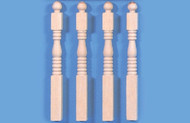 Four Newel Posts