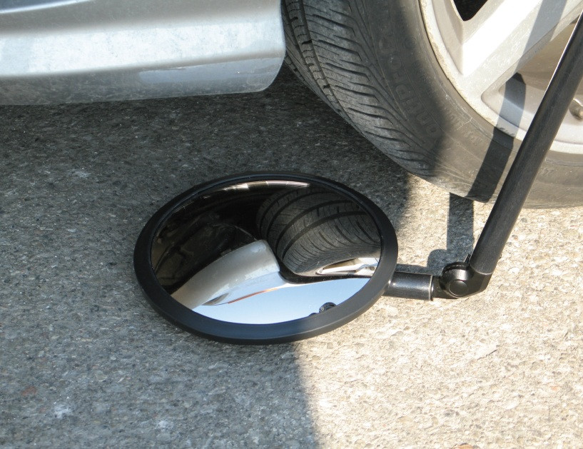 Bullseye Protection Under Vehicle Search Mirror/ Tactical